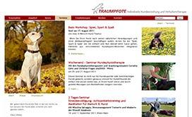 Webseite Hundeschule Traumpfote