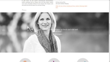 Jasmin Schlimm-Thierjung: Startseite gescrollt