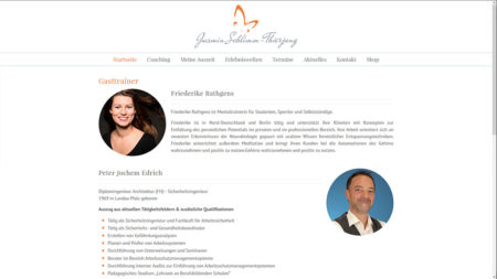 """Jasmin-Schlimm-Thierjung: Unterseite """"Gasttrainer"""""""