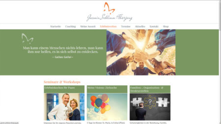 """Jasmin Schlimm-Thierjung: Unterseite """"Seminare & Workshops"""""""