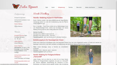Julia Renner Unterseite: Nordic Walking
