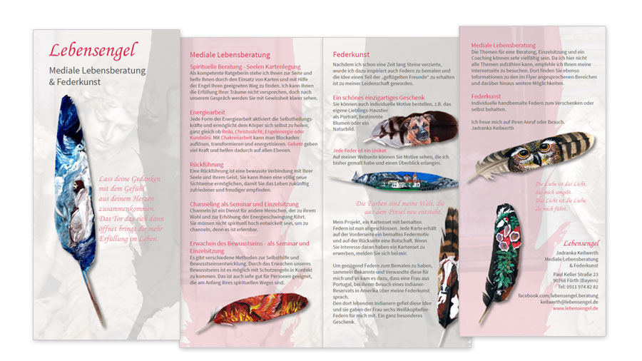 Lebensengel Lebensberatung - Faltblatt Flyer