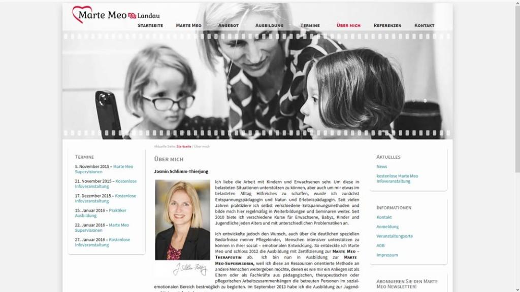 """Marte Meo Landau Unterseite """"Über mich"""""""