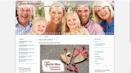 Marte Meo Landau: Webseite