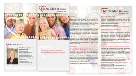 Marte Meo Landau: Faltblatt-Flyer Einbruchfalz