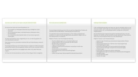 Praxis Sandra Engels: Faltblatt Innen, 6 Seiten - 2/2