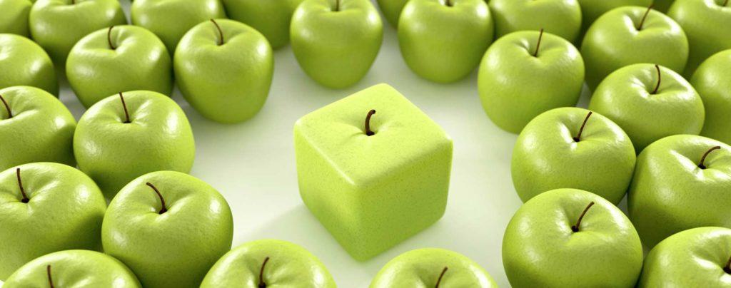Ein quadratischer Apfel