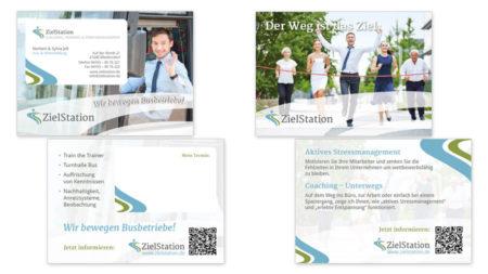 Flyer & Sonderform mit ausgestanzter Visitenkarte