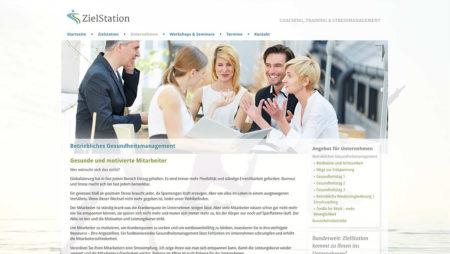 ZielStation - Unterseite: Unternehmen
