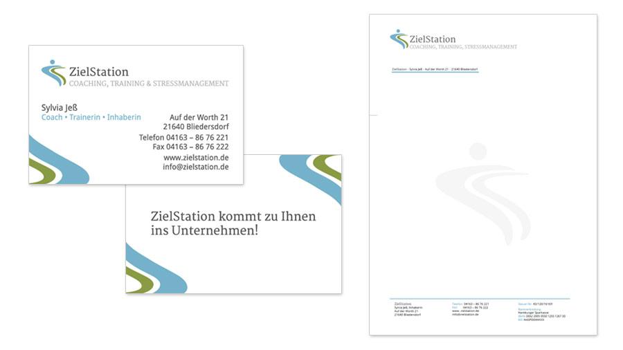 ZielStation - Visitenkarten & Briefpapier
