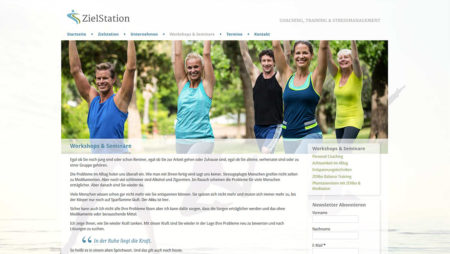 ZielStation - Unterseite: Workshops & Seminare