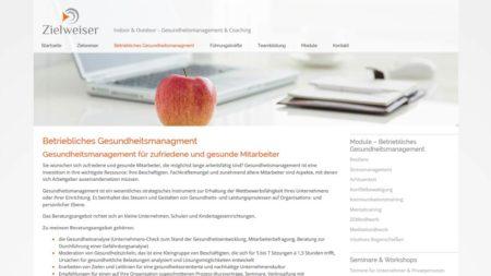 Zielweiser Unterseite: Betriebliches Gesundheitsmanagement