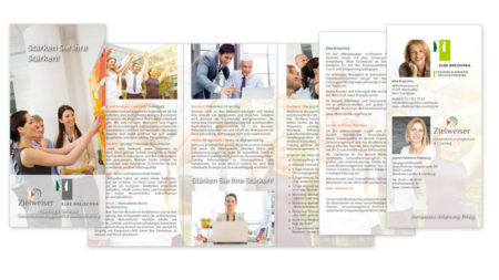 Zielweiser Faltblatt 6 Seiten