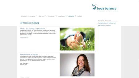 beez balance - Blog Bereich