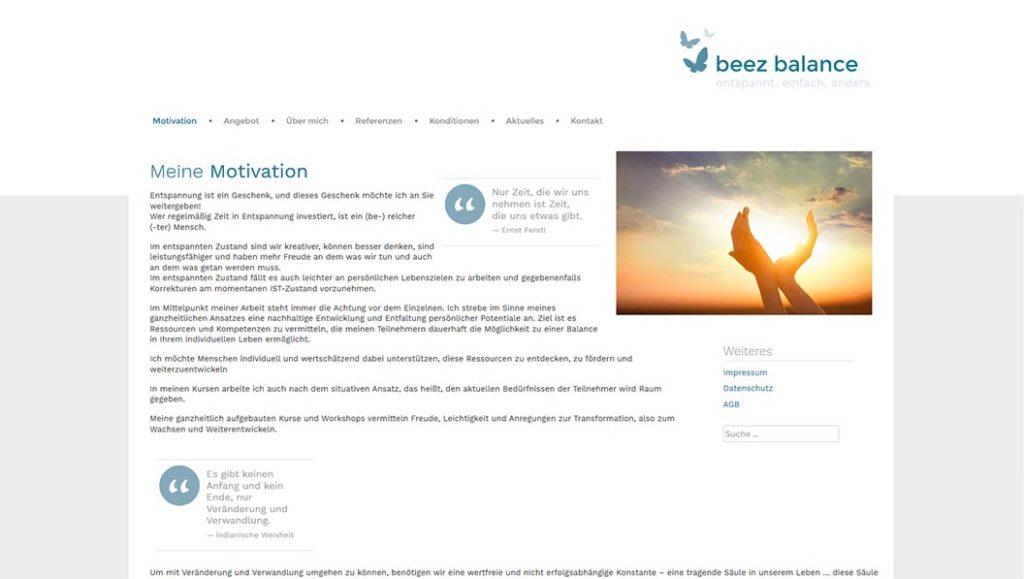 beez balance - Startseite