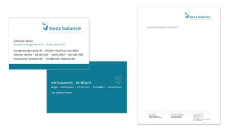 beez balance - Visitenkarten & Briefpapier