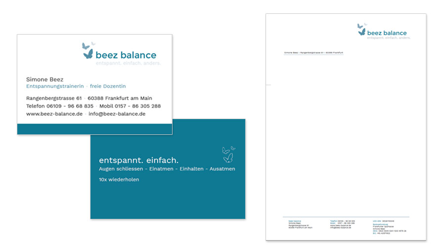 beez balance - Visitenkarten &-Briefpapier