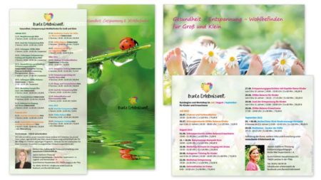 bunte Erlebniswelt Termin-Flyer DIN lang & A6
