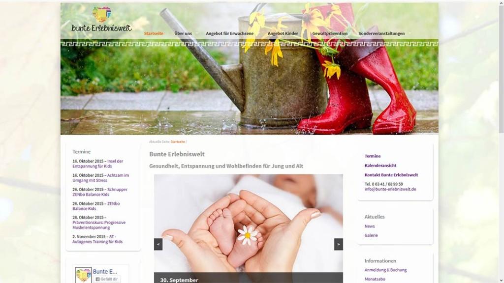 bunte- Erlebniswelt Webseite