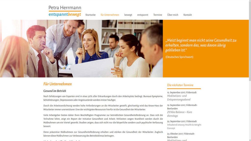 Petra Herrmann - Unterseite Unternehmen