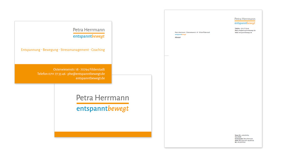 Petra Herrmann - Visitenkarten & Birefvorlage Word