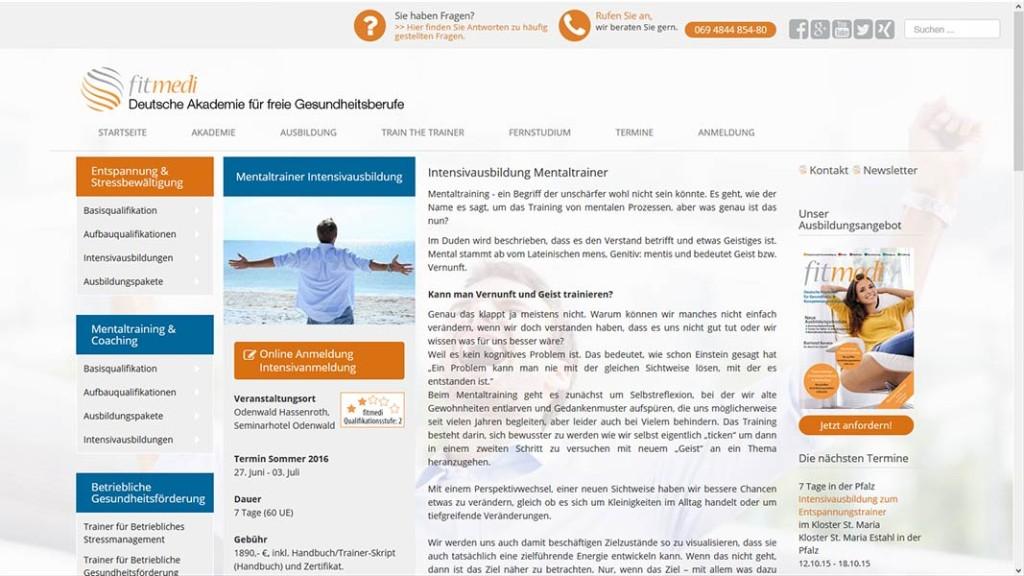 Intensivausbildung der fitmedi Akademie Mentaltrainer