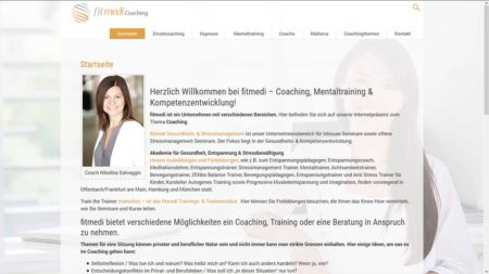 fitmedi Coaching Webseite