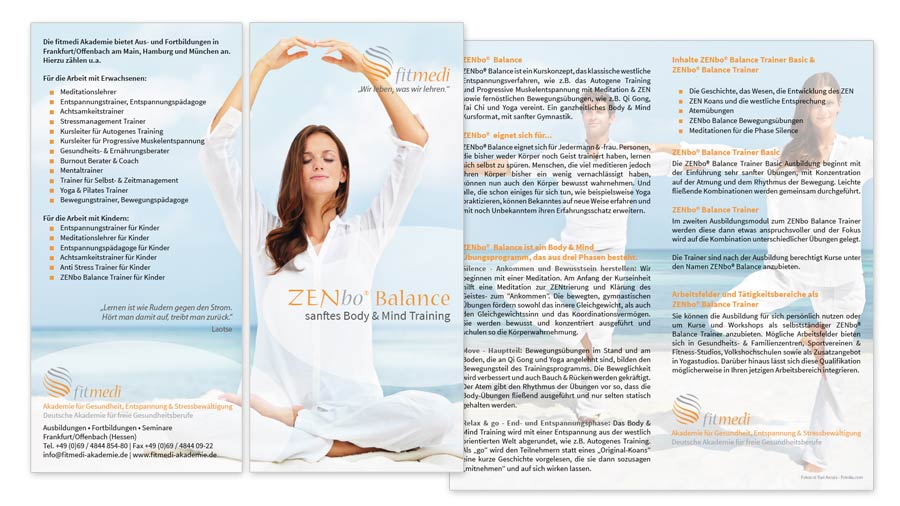 ZENbo Balance Flyer/Faltblatt 4 Seiten