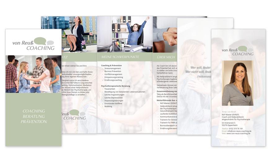 von reuß Coaching Faltblatt 6 Seiten